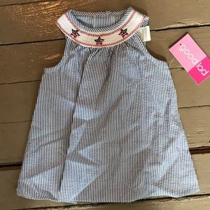 NWT 18 month Smock dress patriotic